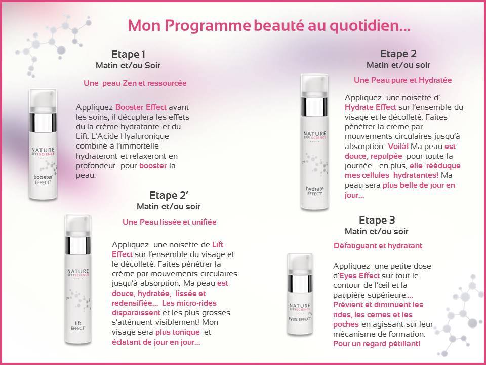 routine beauté nature effiscience