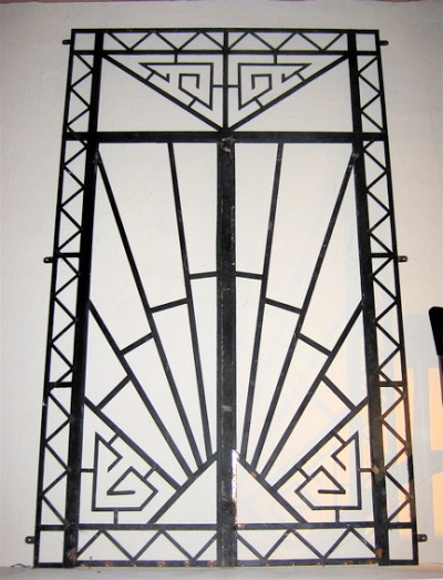 art deco fer forge grille