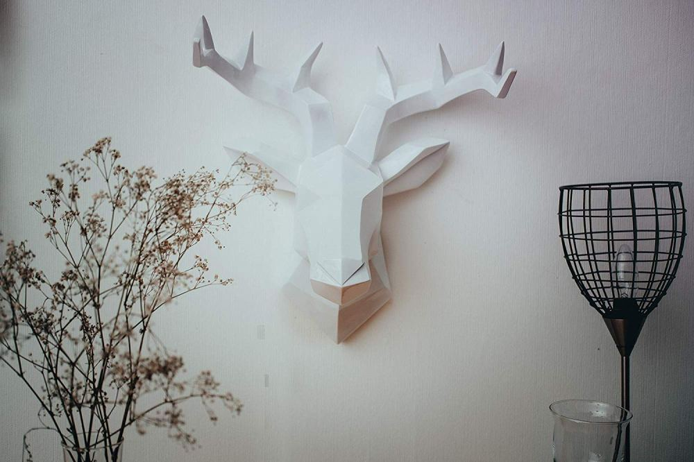 tete cerf sculpture